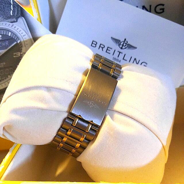 Titanium bracelet with folding clasp.